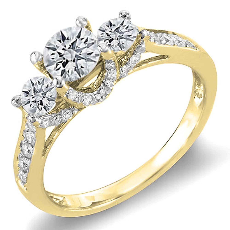 Engagement rings for under 1000 - 1 00 Carat Ctw 14k Gold Round White Diamond 3 Stone Ladies Bridal Engagement Ring Engagement Rings Under 1000amazing