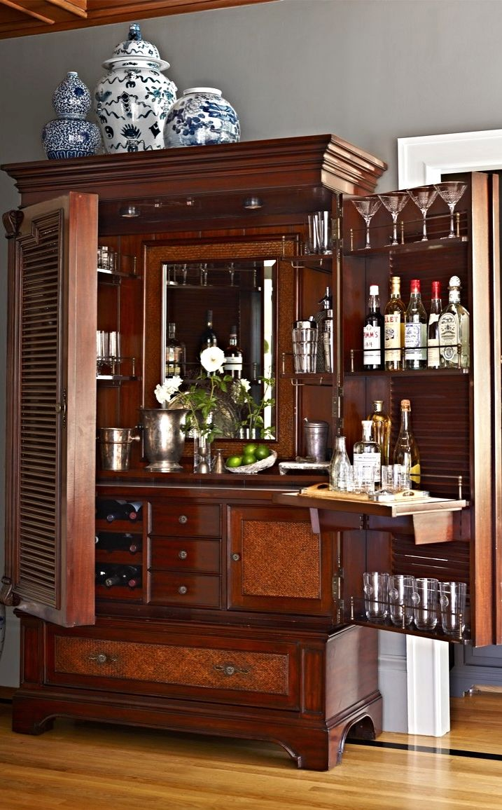 The Havana Barmoire: A Fusion of Bar & Armoire | Bar, Mueble bar y ...