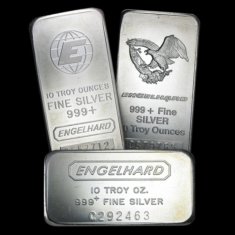 Engelhard 10 Oz Silver Bars Silver Bars Silver Bullion Silver Coins