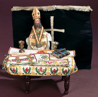 Antique Dolls and Toys of LEGO - Session 1: 254 Early and Very Rare Miniature Dollhouse Priest with Liturgical Accessories