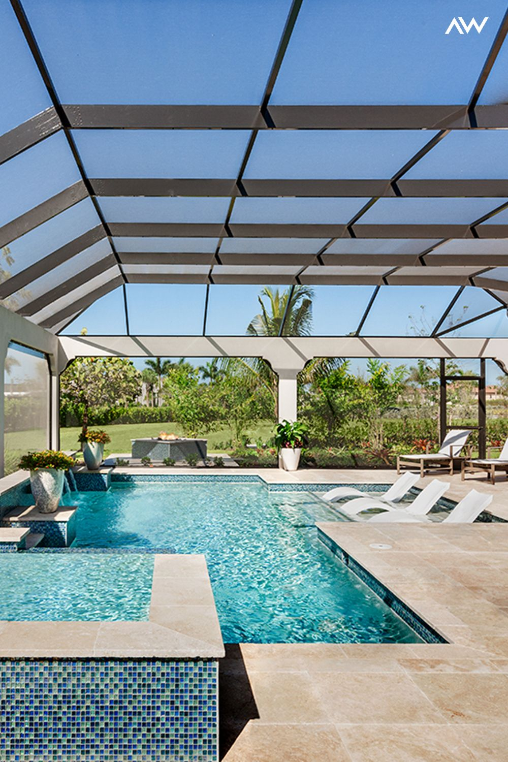 Tranquil Indoor Pool In Naples Backyard Renovations Natural Swimming Pools New Homes For Sale