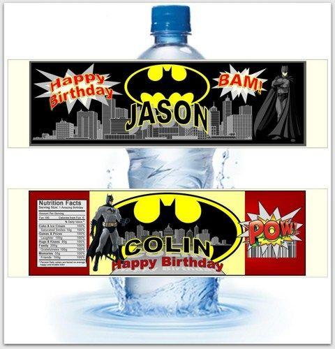 Batman 30 Waterproof Labels For Your Water Bottles Not Diy Custom Custom Water Bottle Labels Custom Labels Waterproof Labels