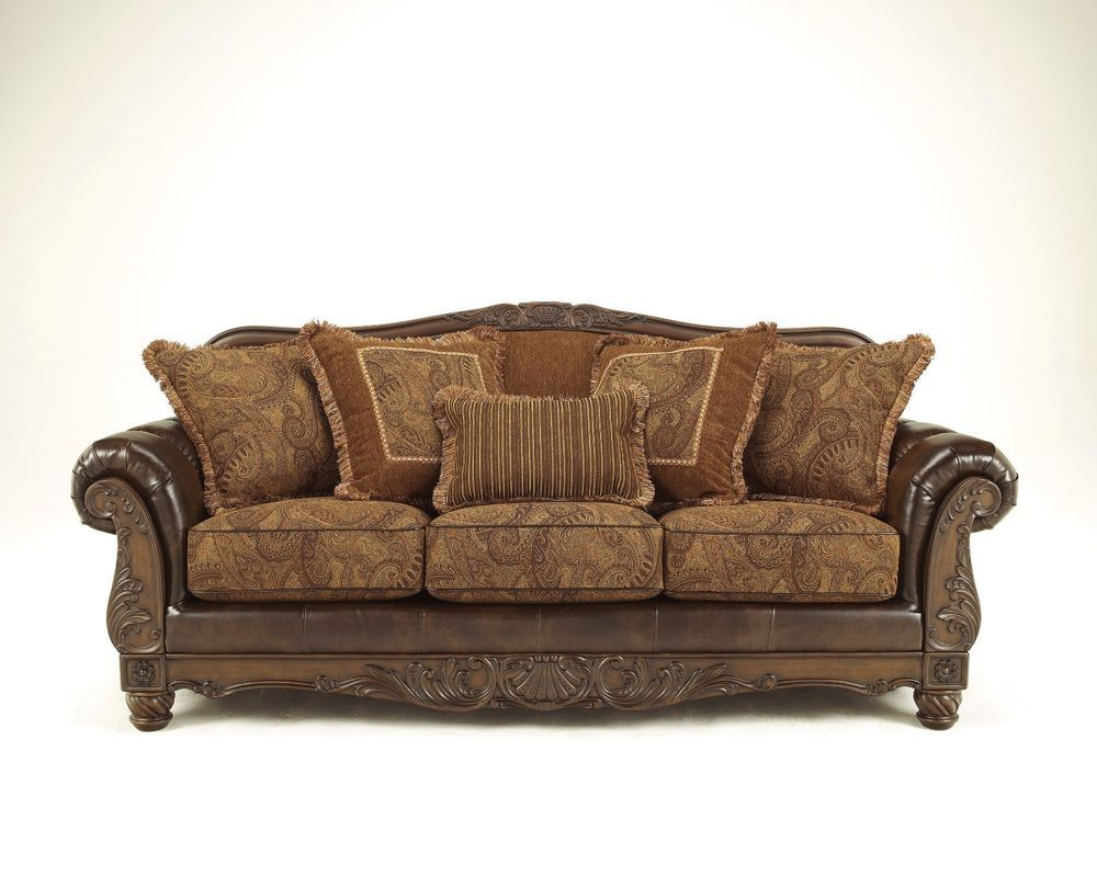 New Ashley Old World Traditional Classic Antique Sofa Couch Living Room Antique Sofa Antique Living Rooms Sofa
