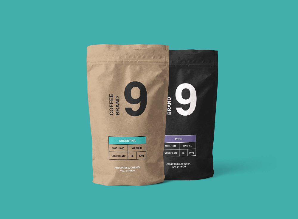Download Free Kraft Paper Coffee Pouch Mockup Free Package Mockups Coffee Branding Free Packaging Mockup Coffee