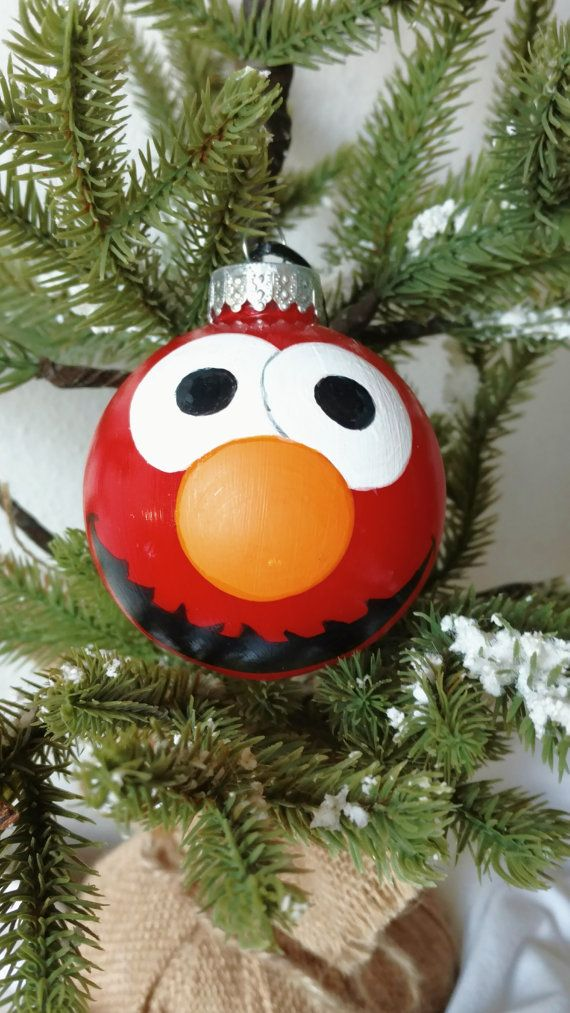 Elmo Hand Painted Ornament Elmo Ornament Housewarming