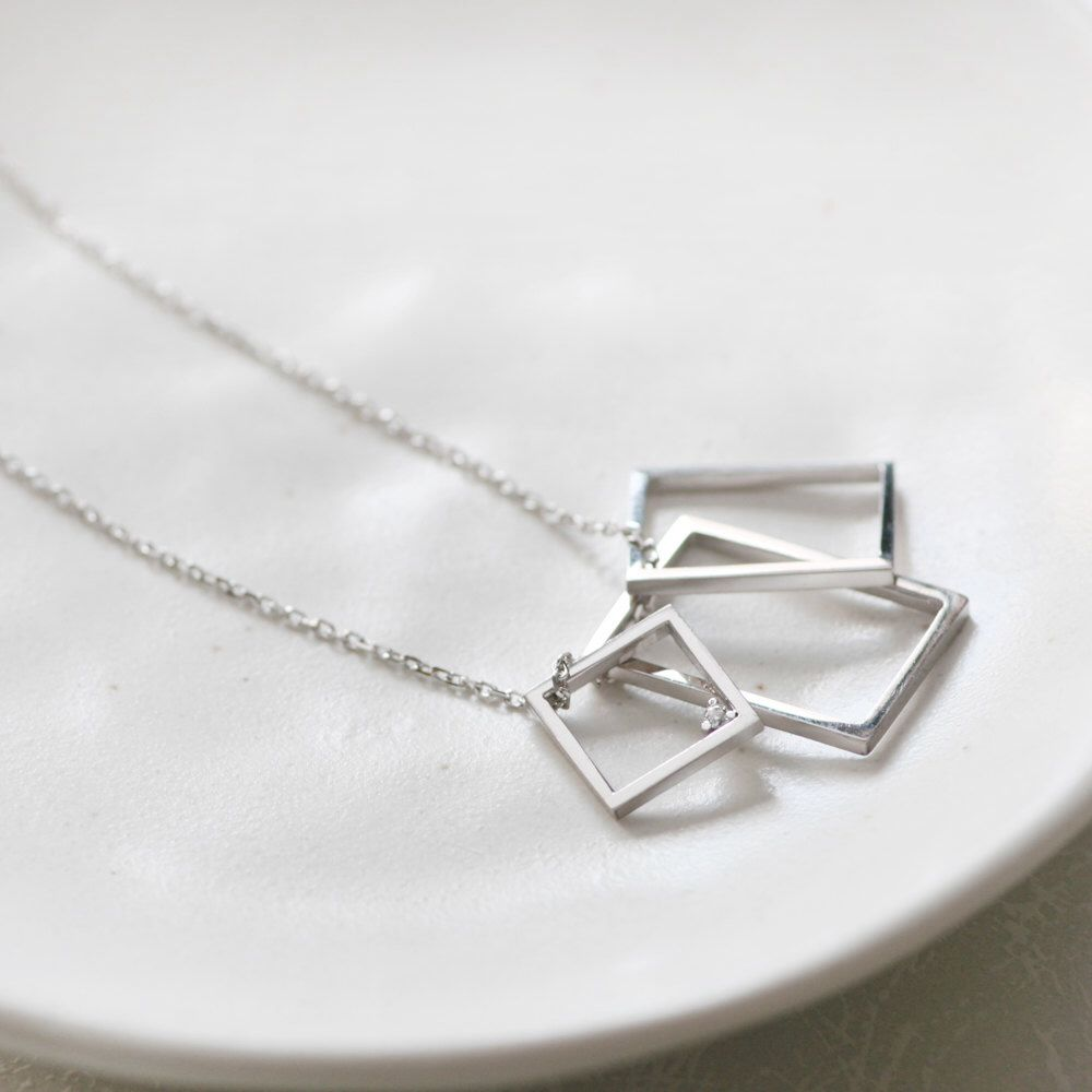 Square Necklace, Long Necklace, Simple Necklace, Silver Necklace, Geometric Necklace, Womens Necklace, Pendant, Birthday Gifts by CloudSilverJewelry on Etsy https://www.etsy.com/listing/232434559/square-necklace-long-necklace-simple