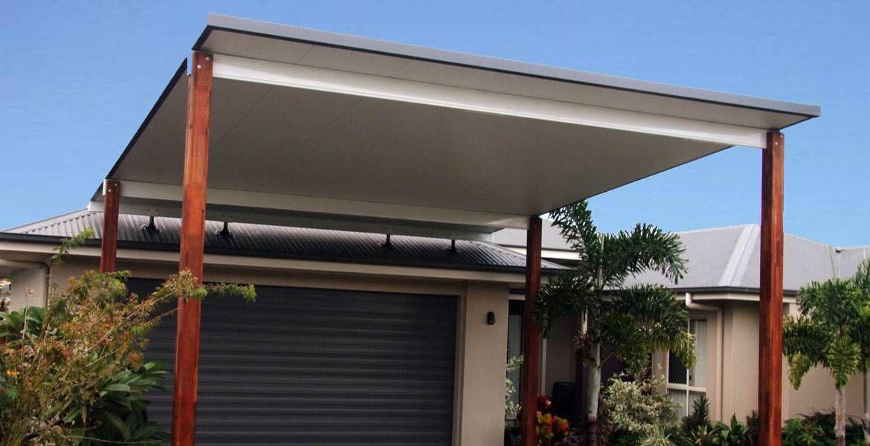 Metal post and beam carport trueline insulated elevated carport