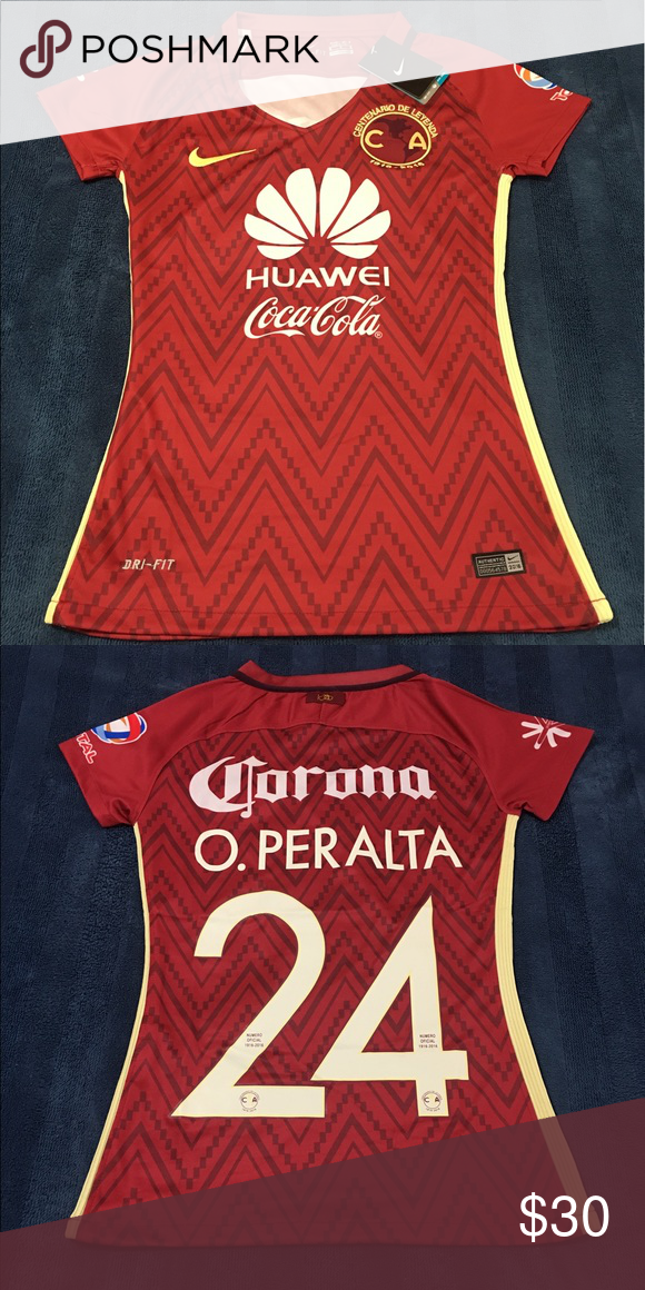 check out cc631 77553 Club America #24 Peralta Nike Girl Soccer Jersey Club ...