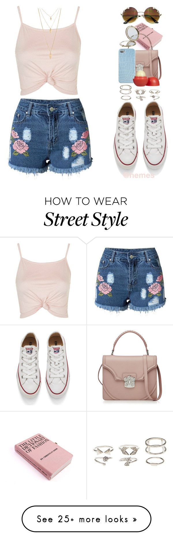 """""""street style"""" by nemes-margareta-anna on Polyvore featuring Topshop, Converse, Charlotte Russe, Alexander McQueen, 2Me Style, Henri Bendel, Eos and Forever 21"""