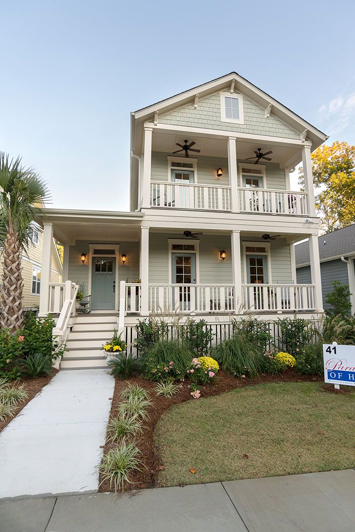 The Sweetwater The Cottages At Ocean Isle Beach Nc House With Porch House Exterior Southern Porches