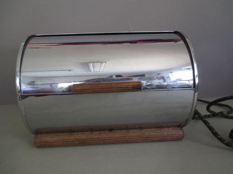Vintage Chase Art Deco Machine Age Chrome Roll Bun Warmer   eBay