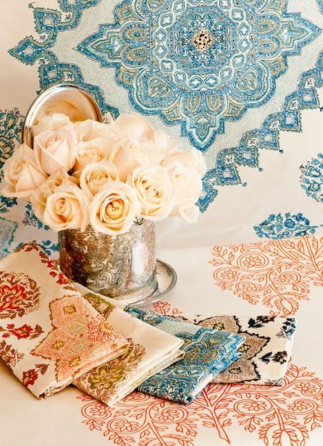 Quadrille Persepolis And Taj Fabrics Hand Printed Fabric Quadrille Fabric Quadrille