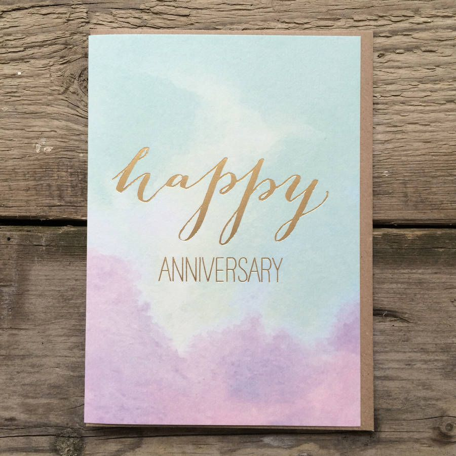 Happy Anniversary With Satin Gold Foil in 2020 Happy