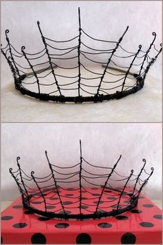True Blue Me You Diys For Creatives Diy Inspiration Wire Cobweb Crown Designed By Halloween Crown Diy Crown Gothic Jewelry Diy
