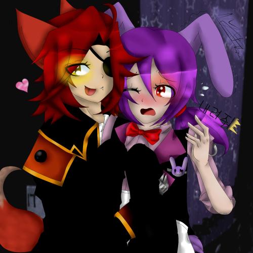 Bonnie FFoxy what are u doing 😖😳😖😳 Foxy Shes mine now