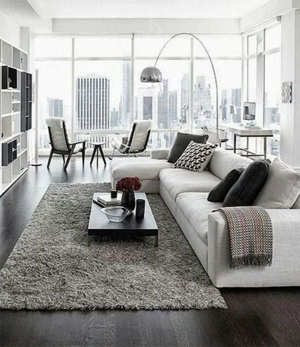 I like the white/gray...modern. white modern living room decor