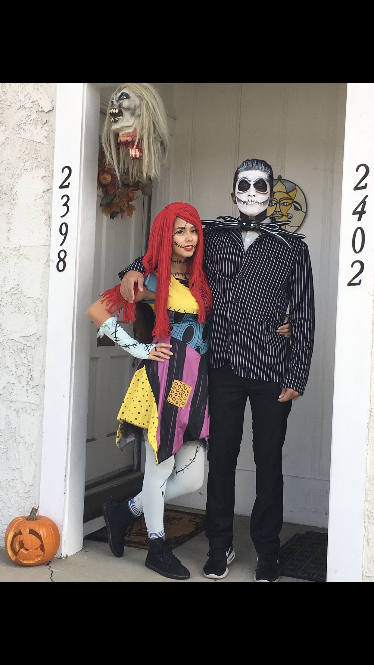 The Nightmare Before Christmas Jack and Sally ❤ couple costumes ...
