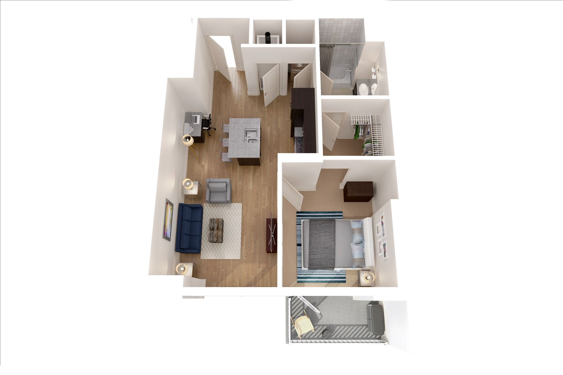 The Pahoy 691 Sq Ft Bedroom Apartment Apartment Range 1 Bedroom Apartment