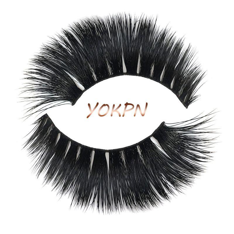 Yokpn Handmade Mink False Eyelashes Smoke Banquet Makeup Tool False