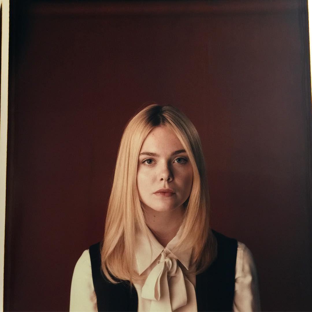 Sublime. Elle Fanning Yesterday On Polaroid. Premiering