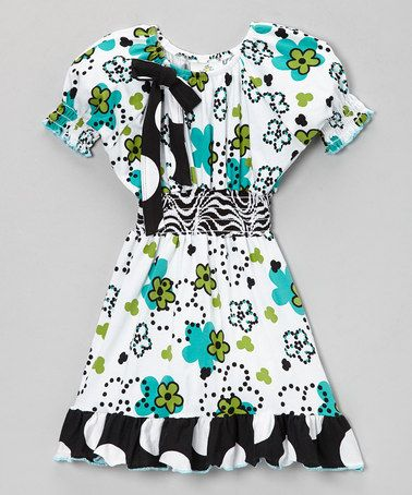 Look what I found on #zulily! White & Blue Dot to Dot Dress - Infant, Toddler & Girls #zulilyfinds