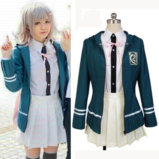 >> Click to Buy << DanganRonpa 2 Chiaki Nanami Anime Uniform Jacket White T Skirt Custom Made Halloween Cosplay Costumes For Women #Affiliate