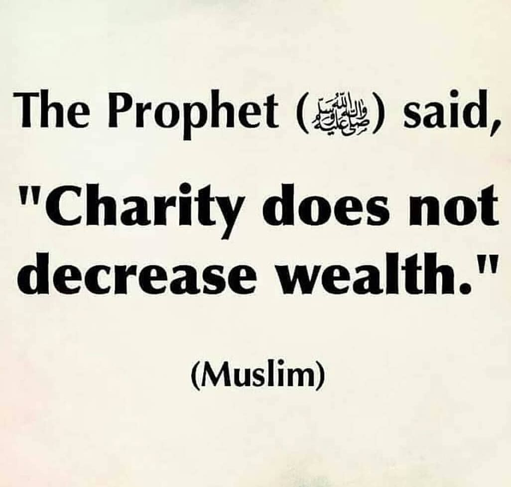 Charity Quotes Charity Will Never Decrease Your Wealth#charity #islam #faith