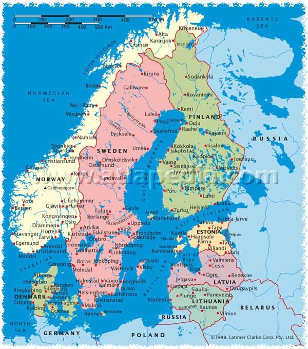 Political map of norway sweden finland estonia latvia lithuania political map of norway sweden finland estonia latvia lithuania denmark atlapedia online gumiabroncs Images