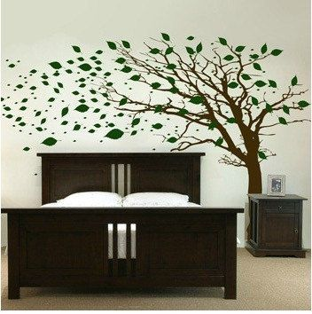 This Tree Decal Is Awesome With Images Green Interior Decor