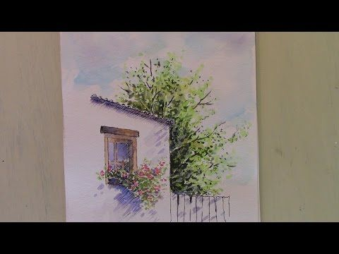 A Line And Wash Watercolour Tutorial By Peter Sheeler Quick And
