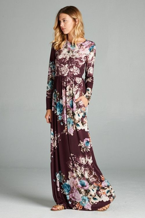 c1a9b086c253 A Million Miles Floral Long Sleeved Maxi Dress ...