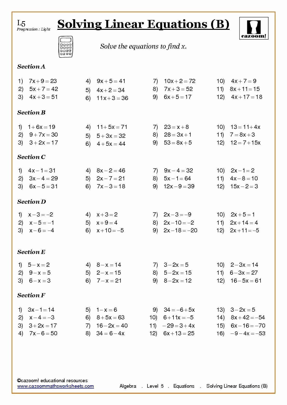 3 7 Grade Algebra Worksheets In