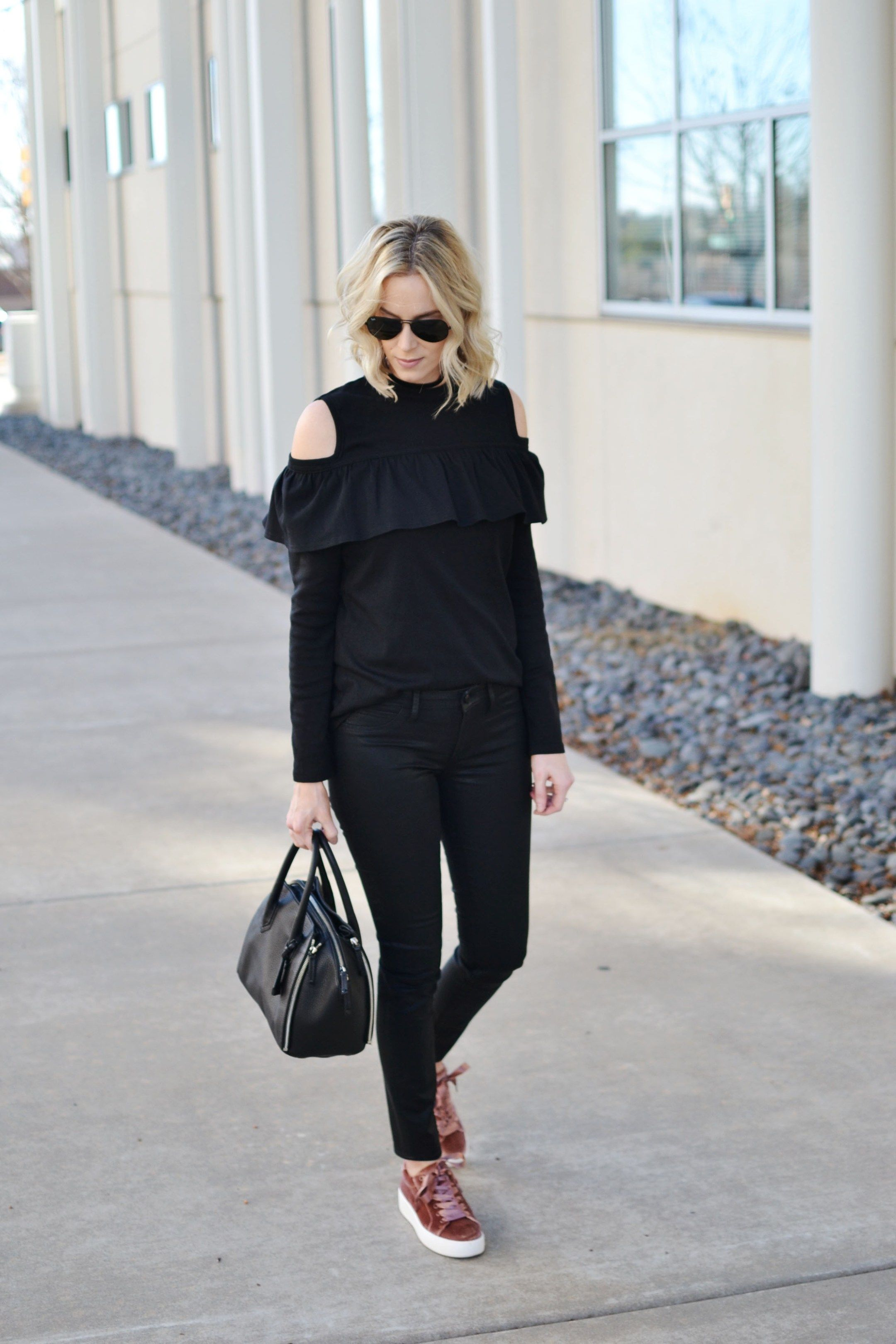 How to Wear All Black - Straight A