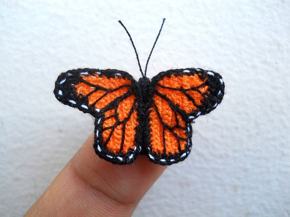 Miniature Monarch butterfly - Micro Crochet Amigurumi Stuffed Animal ...