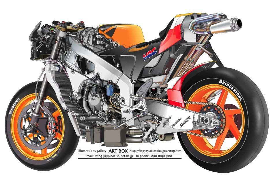 Repsol No Cowl Super Bikes Motogp Japanese Motorcycle