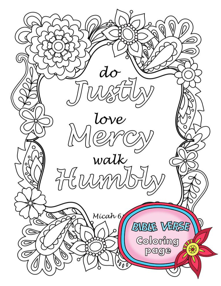 Bible Verse Coloring Page Instant Download By Bibleversecoloring