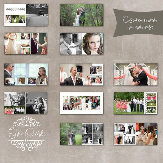 Coffee Book Album: 10x10 Wedding Album Photoshop Template Designed For WHCC