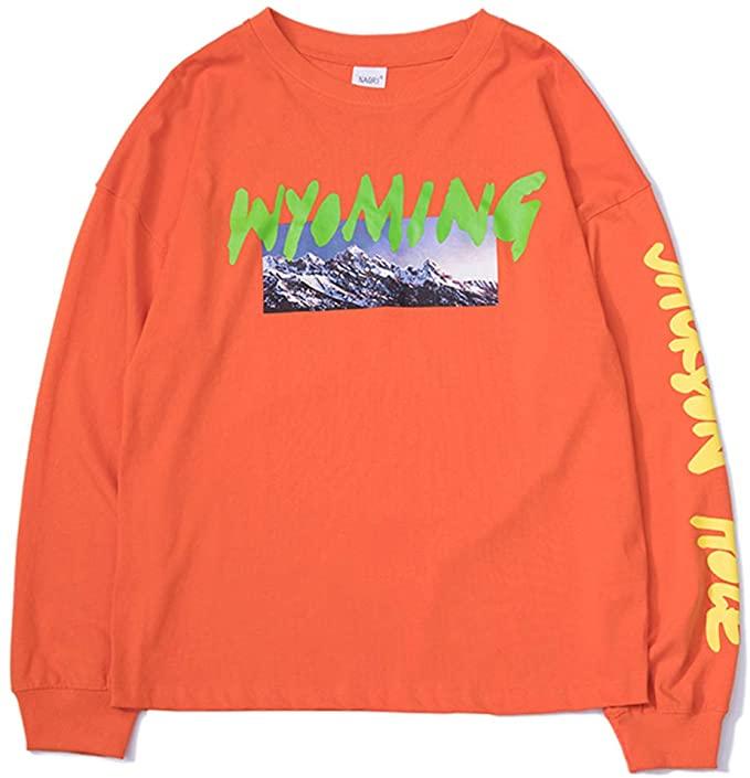 Amazon Com Nagri Kanye Wyoming Long Sleeve Shirt Listening Party Hip Hop Graphic Print Crewneck Sweatshirt In 2020 Sweatshirts Long Sleeve Shirts Crew Neck Sweatshirt