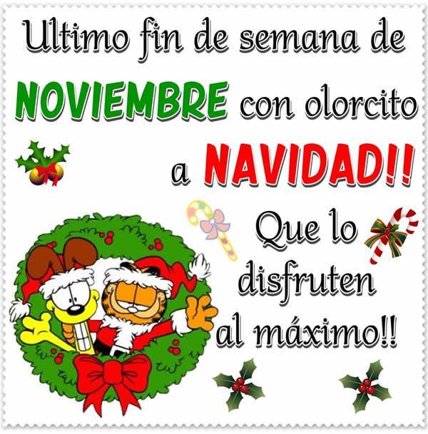 Ultimo Fin De Semana De Noviembre Con Olorcito A Navidad