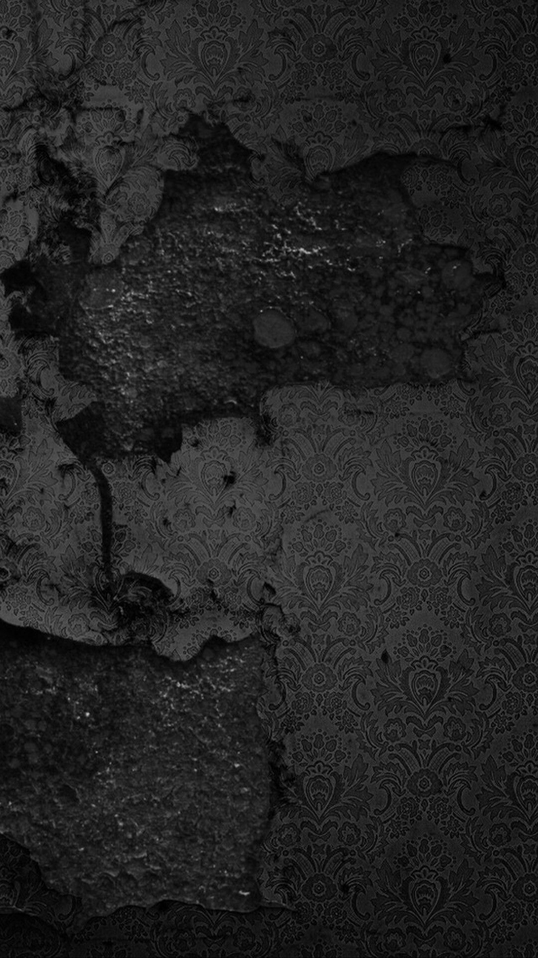 Rustic Black Wall Wallpaper Dark wallpaper, Black