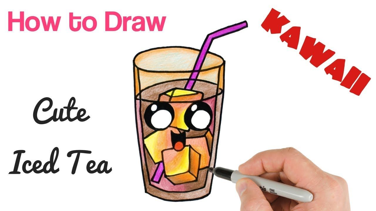 How To Draw Iced Tea Drink Cute And Easy With Images Drinking