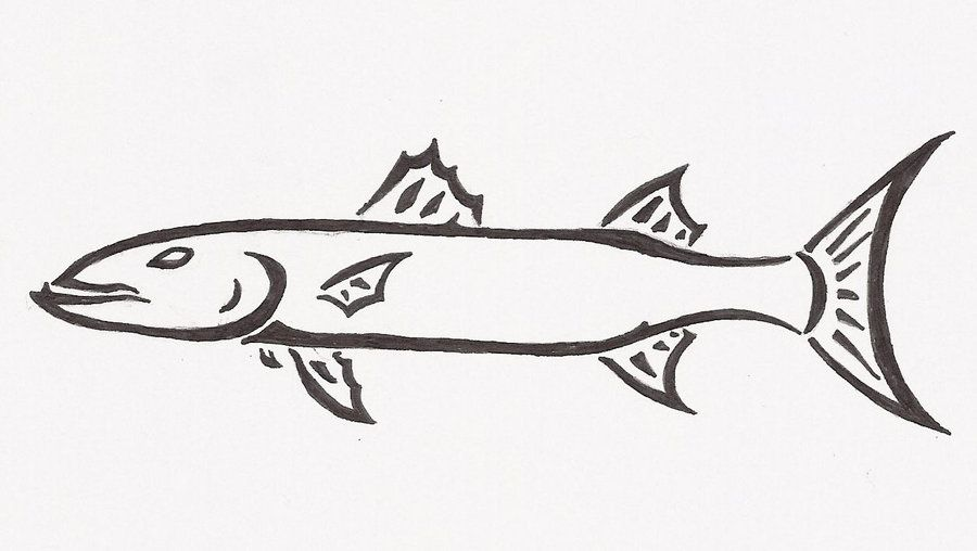 Imgs For Barracuda Fish Cartoon Stamps To Carve Pinterest
