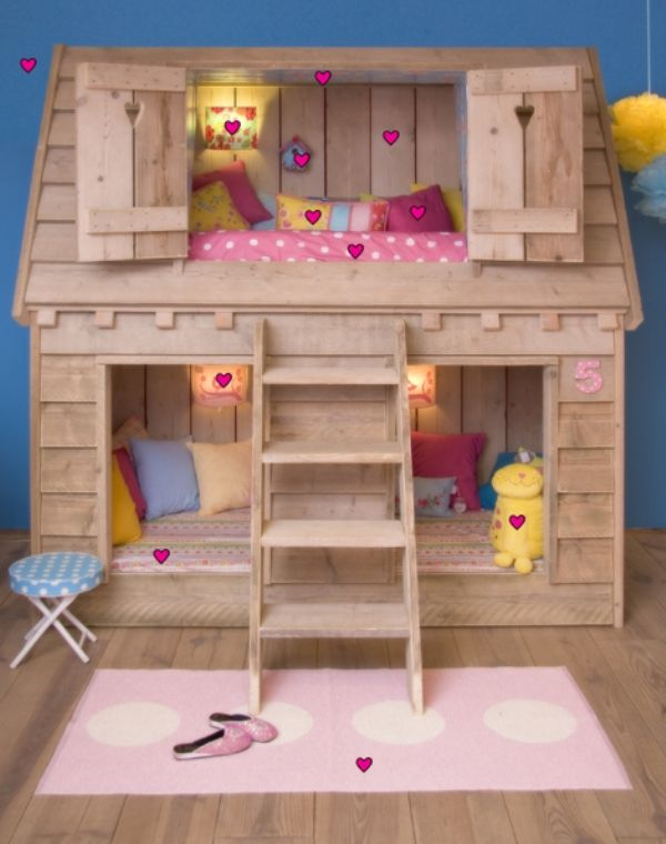 amazing child s loft bed in the shape of bird s house kidsomania bed pinterest lofts. Black Bedroom Furniture Sets. Home Design Ideas