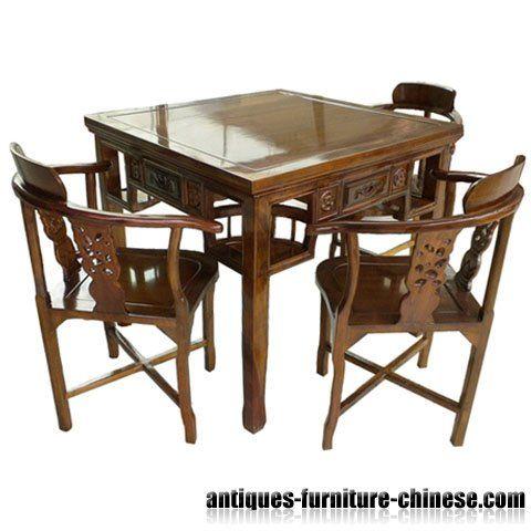 china wood furniture mahjong table | furnishings | pinterest