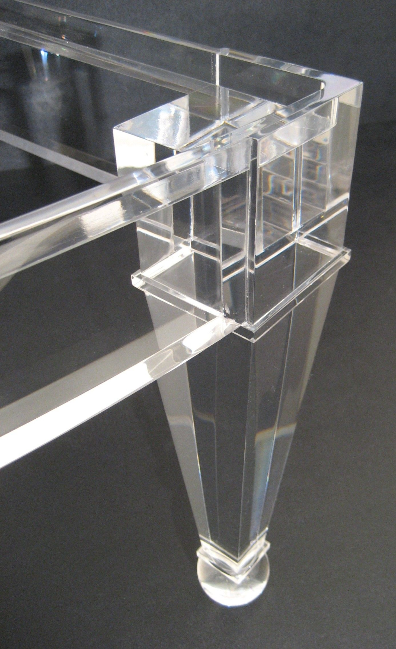 acrylic furniture legs. Then The Legs Were Carefully Glued To Rails Such That No Bubbles Or Other Imperfections. Acrylic FurnitureFurniture Furniture L
