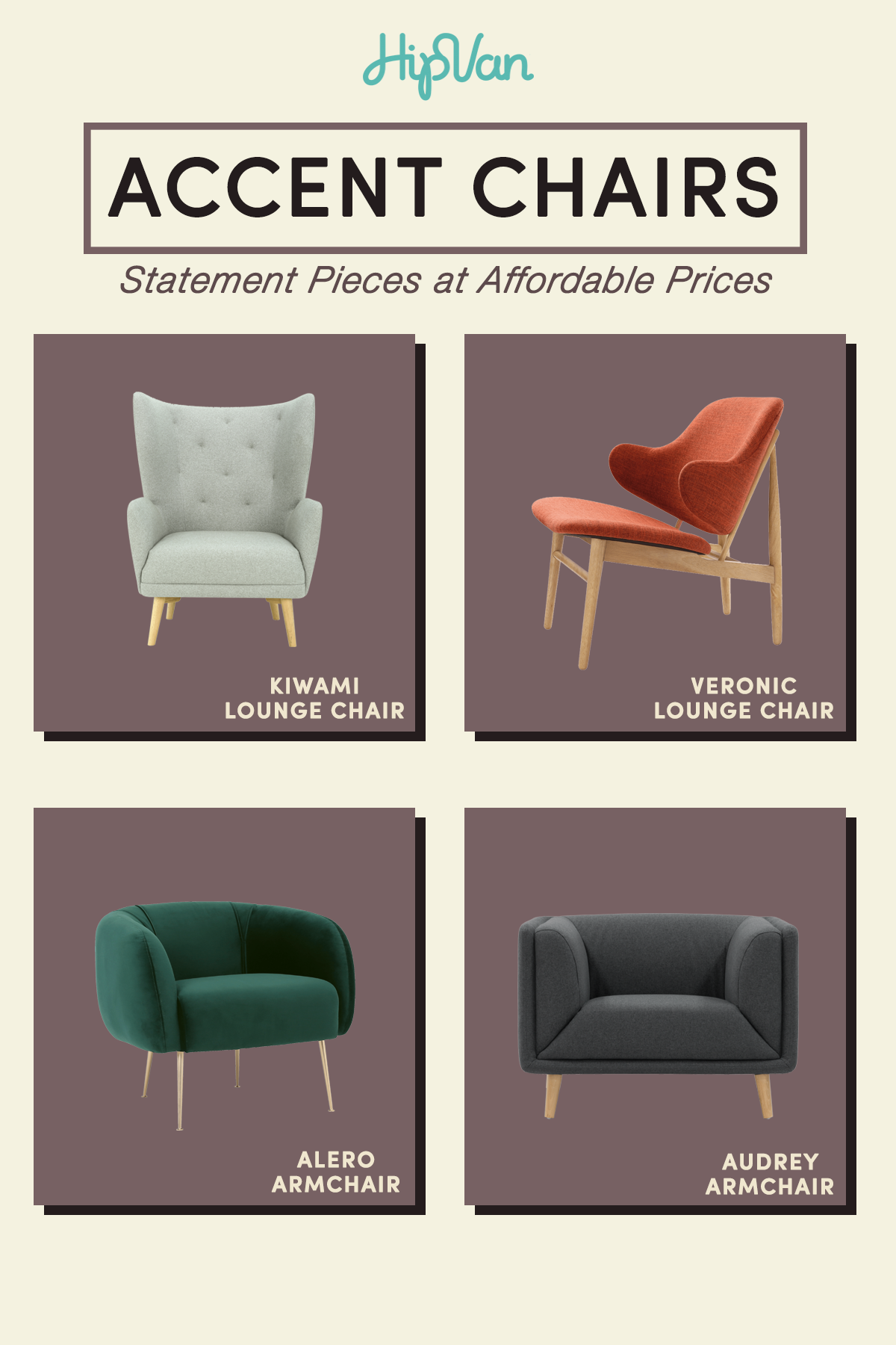 Accent Chairs Statement Pieces Hipvan Comfy Sofa Couch Lounge Chair Accent Chairs