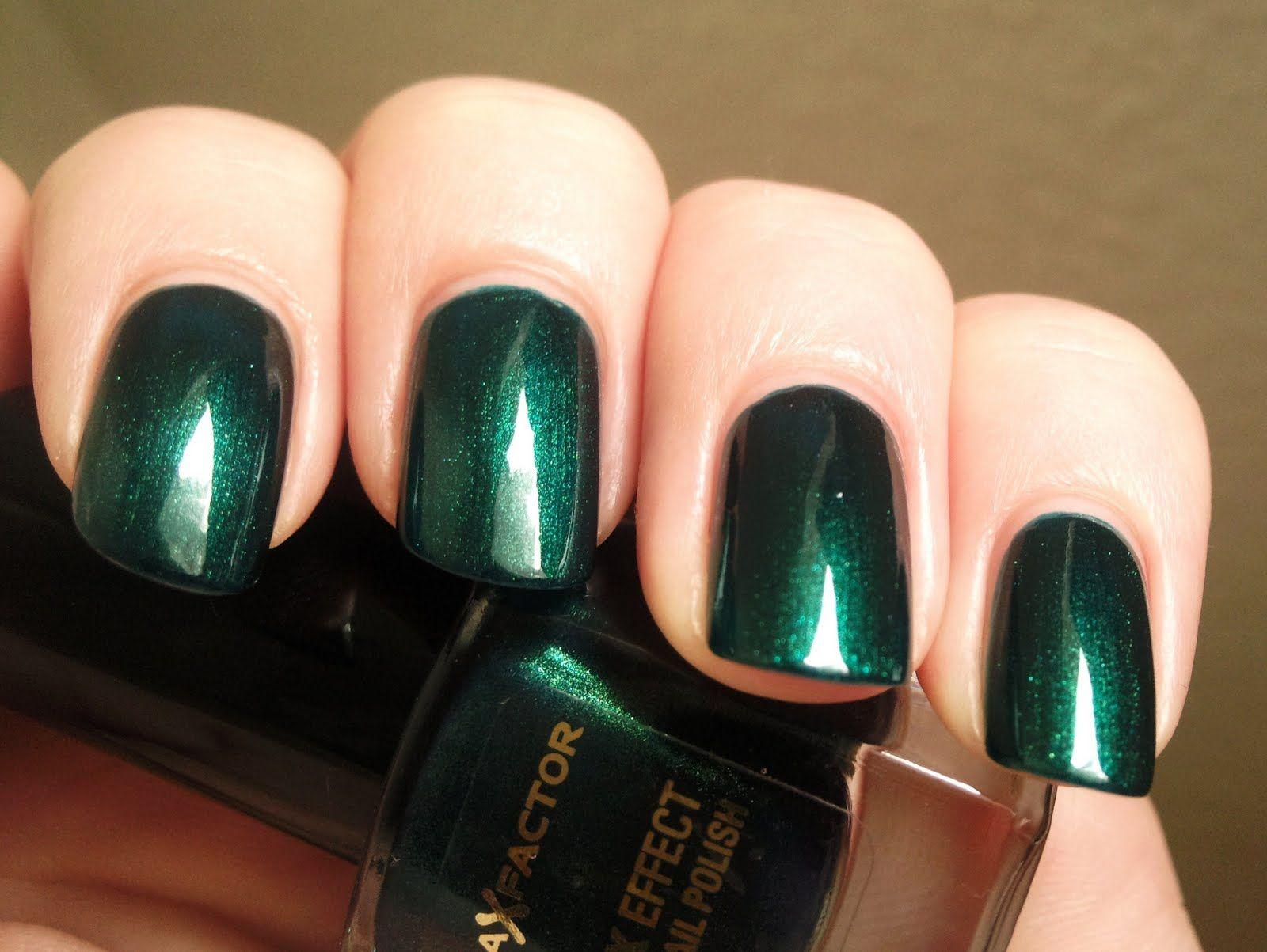 Max Factor emerald green nail polish   Makeup/Nails   Pinterest ...