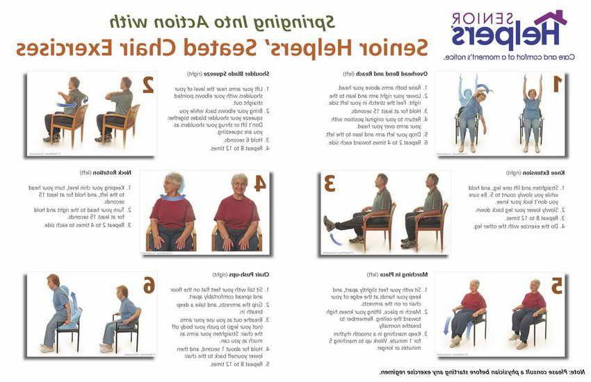 Easy Chair Exercises For Elderly Kesehatan Kebugaran