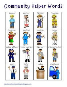prompt the students will draw their favorite community helper and ...