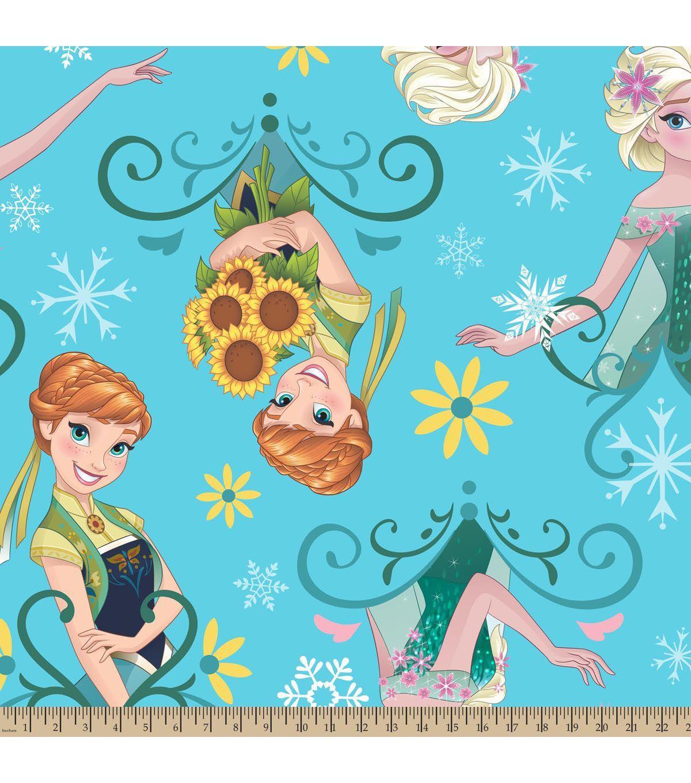 Disney frozen fever sunflowers fleece fabric lizzieus th bday